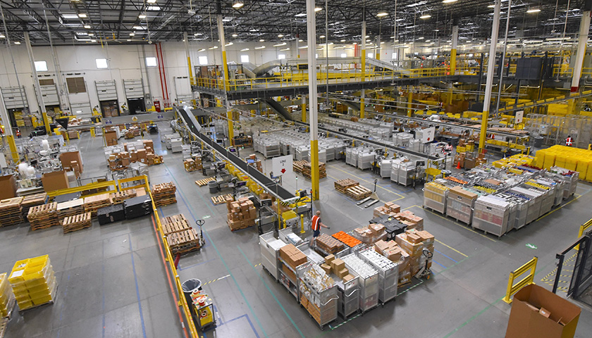 Amazon warehouse in Maryland