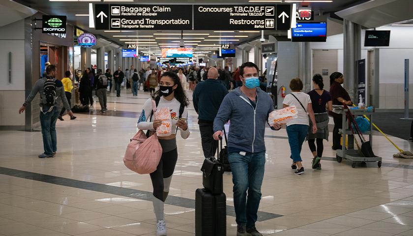 People walking in airport