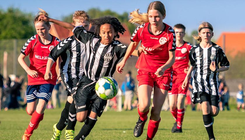 boy and girl soccer