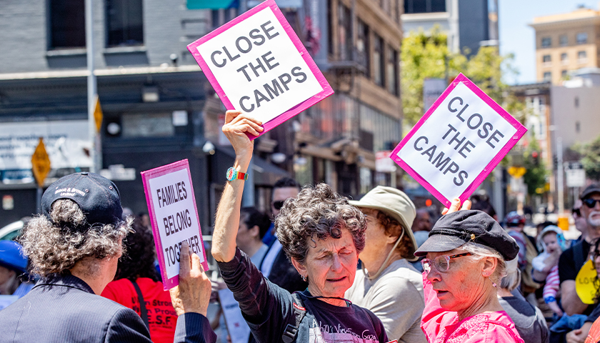 Close the camps protest, dated 2019