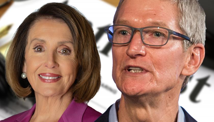 House Speaker Nancy Pelosi and Apple CEO Tim Cook